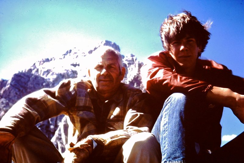 Rock Climbing Photo: 1968.  On top of Disappointment Peak with my dad. ...