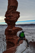 Rock Climbing Photo: Eddie icing the little guys on an early January as...