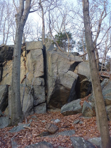 Rock Climbing Photo: The dihedral is in the lower right of the photo. T...