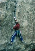 Rock Climbing Photo: Gary Molzan starting Butterfly Crack.