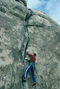 Rock Climbing Photo: Entering the wider crack.