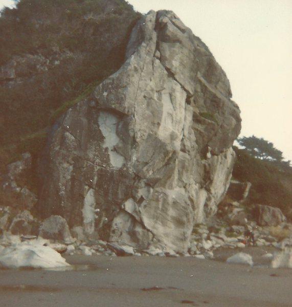 Rock Climbing Photo: Rainy Day, 1987.