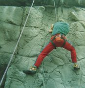 Rock Climbing Photo: Tim, 1987.