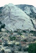 Rock Climbing Photo: The approach to Saddle Rocks, February 1986.