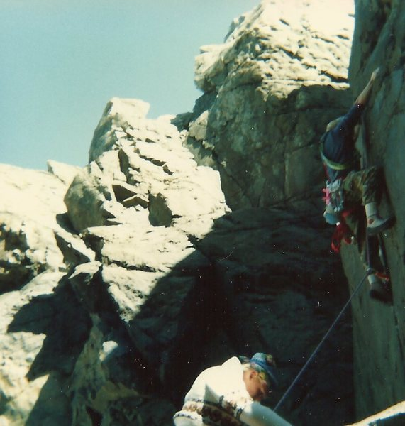 Rock Climbing Photo: Tim and Rich at Low Tide Crack, not P.O. Cliff!