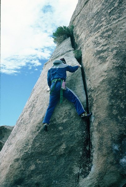 "Rock Climbing Photo: Gary decided to boulder on ""Ripper."""