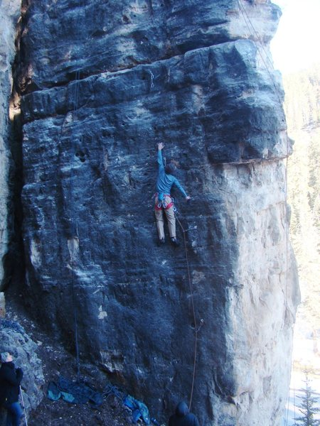 Bullet-Proof, black rock. Big reaches to sweet holds.