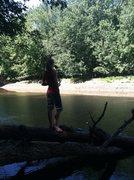Me, fishing.