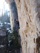 Rock Climbing Photo: Jumping Jack Frost, 5.11 plus, maybe. Rating depen...