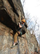 "Rock Climbing Photo: Opening moves of ""The Nephalim 5.10"""