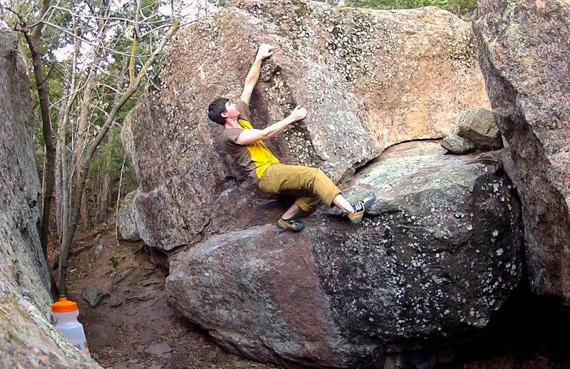Sean Topp on the Herbert Boulder.