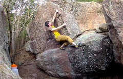 Rock Climbing Photo: Sean Topp on the Herb-daddy Traverse.