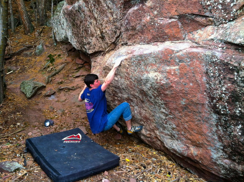 Rock Climbing Photo: Sean Topp cruising the traverse section.