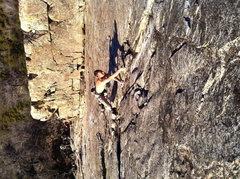 Rock Climbing Photo: josh horniak, fa: high lands .10. bowman lake vall...