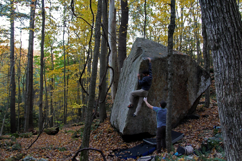 Rock Climbing Photo: Fantastic unknown arete problem.  benjamin-mackall...