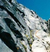 Rock Climbing Photo: Right of yellow line Rock Candy. Orange is Jawbrea...