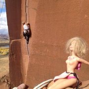 Rock Climbing Photo: barbie spraying beta