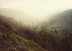 Rock Climbing Photo: Smoky haze.