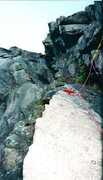 Rock Climbing Photo: Rope is on Pop Sick Hill. Red line is the crack. I...