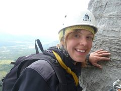 Always happy when climbing! (Yamnuska)
