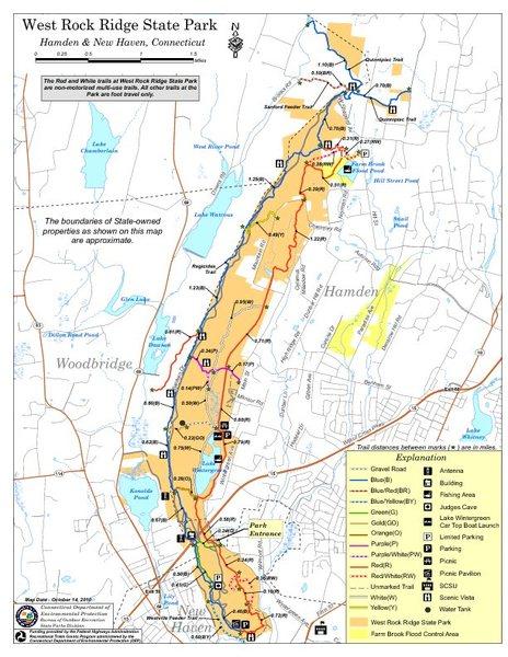 Rock Climbing Photo: West Rock State Park Map