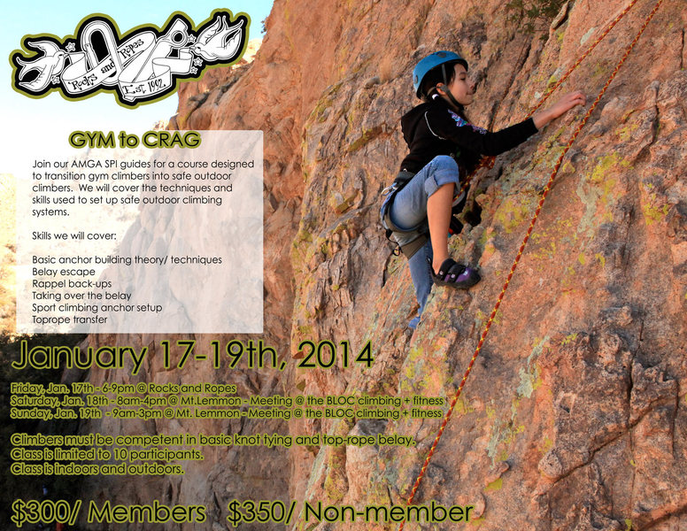 gym to crag flyer