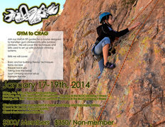 Rock Climbing Photo: gym to crag flyer