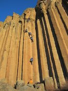 Rock Climbing Photo: Wally Fox on the Mayfly.