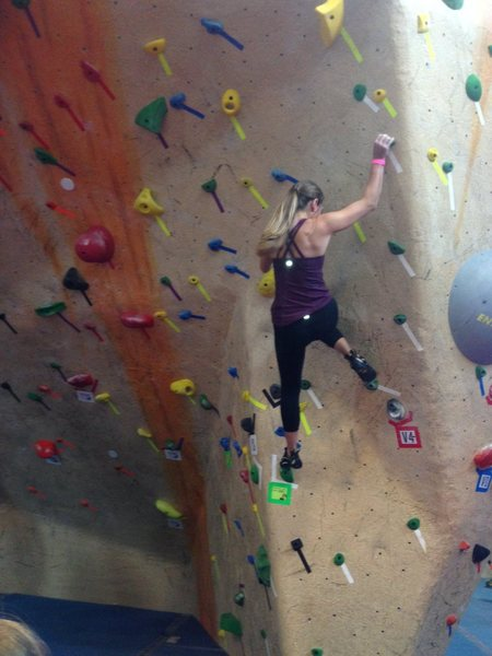 Rock Climbing Photo: comp pic