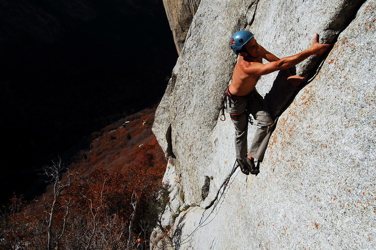 Rock Climbing Photo: Late season tanning.