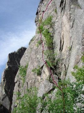 Rock Climbing Photo: Teresa again in 2008 my only partner. Sayanara