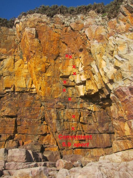 Rock Climbing Photo: Convenient topo
