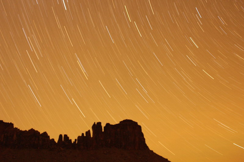 Rock Climbing Photo: Star Trails