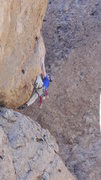"Rock Climbing Photo: Low on ""Exhilleration"" (aka Walking On E..."