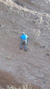 """Rock Climbing Photo: Surveying the knobs on """"Heart & Sole."""""""