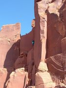 Rock Climbing Photo: Starting the First Pitch, look for the petroglyphs...