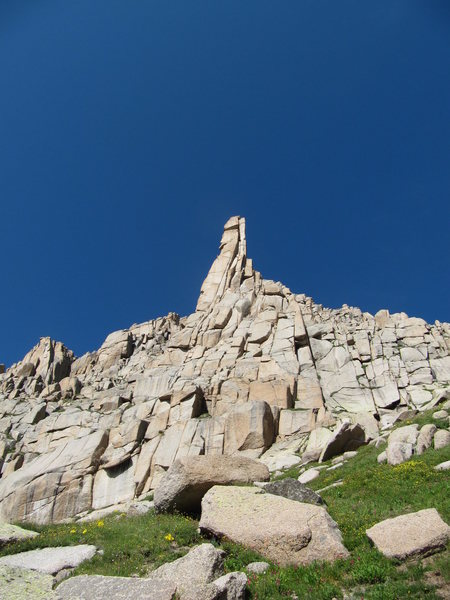 Rock Climbing Photo: Spire on Jagged Mountain.