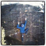 Rock Climbing Photo: Pullin hard