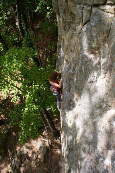 Rock Climbing Photo: On the slab
