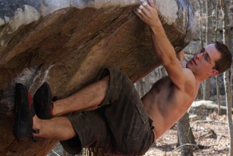 Rock Climbing Photo: Chris shows off bicycle beta