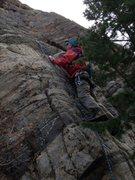 Rock Climbing Photo: Tim Gale climbing.