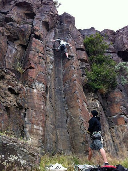 Lead climbing Fat Ankles.  Tons of fun with tons of stemming.