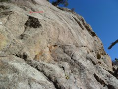 Rock Climbing Photo: The lower part of the route showing the 1st bolt.