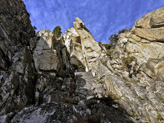 Rock Climbing Photo: FANTASTIC.  The climb follows the giant roof and l...