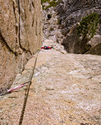 Rock Climbing Photo: The final pitch fully sewn up.
