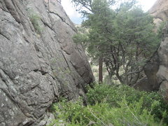 Rock Climbing Photo: The Corridor, aka the gully next to Wallstreet. Go...