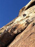 Rock Climbing Photo: Chris H leading Crystalean.