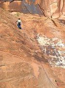 Rock Climbing Photo: Bill P leading Slab 1 (Unknown Slab).