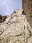 Rock Climbing Photo: Corner crack for days... The stellar 4th pitch of ...