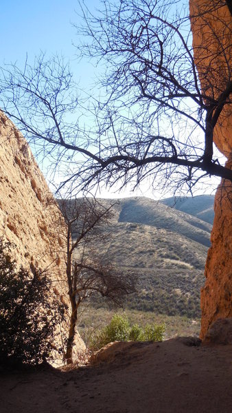 Looking south from the First Corridor at Texas Canyon.